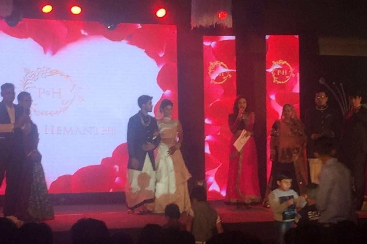 Sangeet ceremony of Pooja & Hemanth