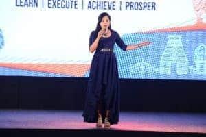Anchor Reena hosting Sriram Fortune's Partner Meet