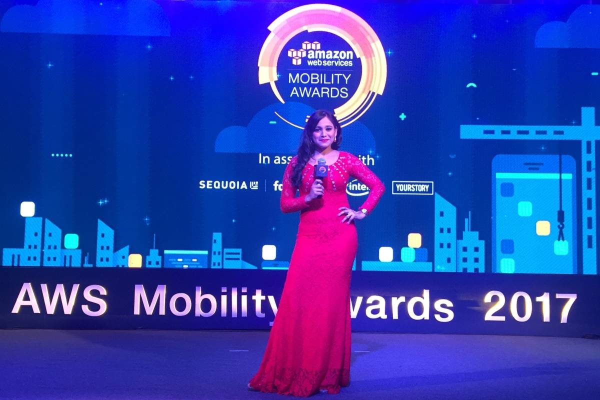 Emcee Reena hosts AWS Mobility Awards 2017