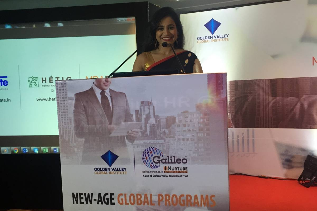 Emcee Reena hosts educational event for Galileo iNurture - Golden Valley Global Institute launch