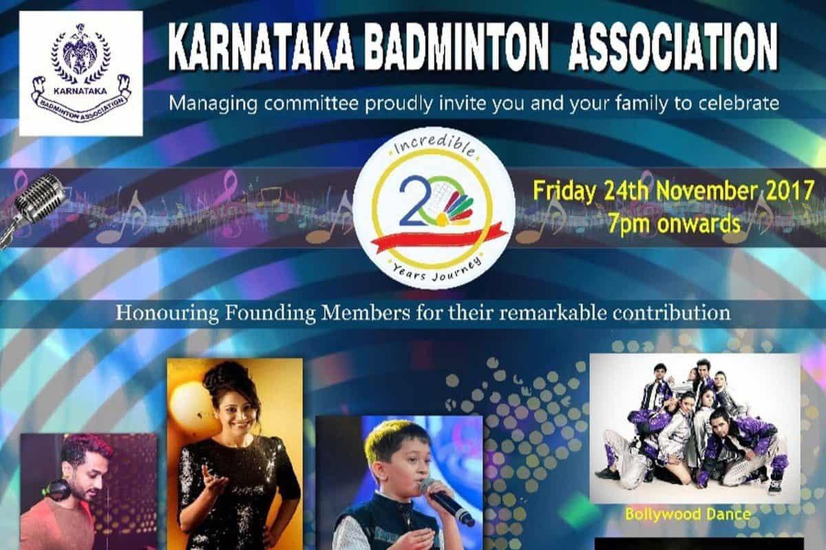 Bangalore's best Anchor Reena D'souza hosts Karnataka Badminton Association 20years of celebration