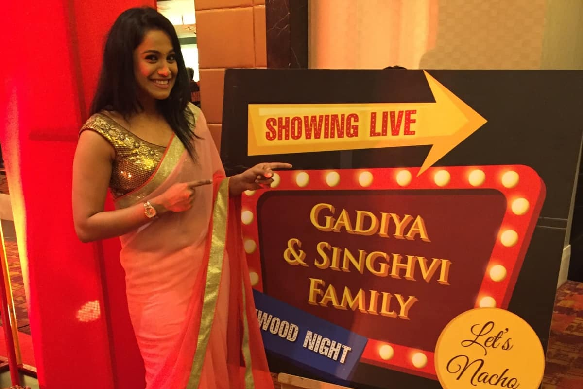 Star Sports Anchor Reena D'souza hosted big fat Sangeet for Singhvi & Gadiya parivaar