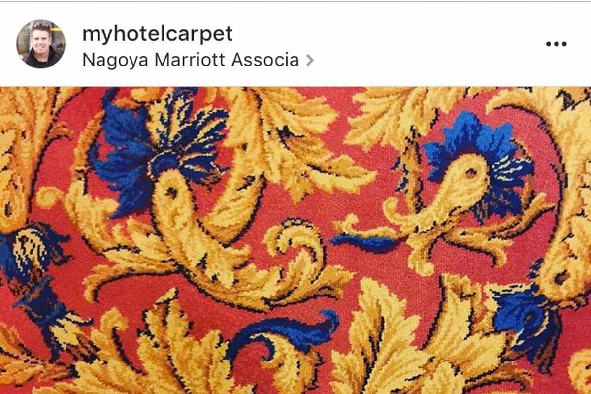 Dad's Instagram about hotel carpets earns half a million followers in a week