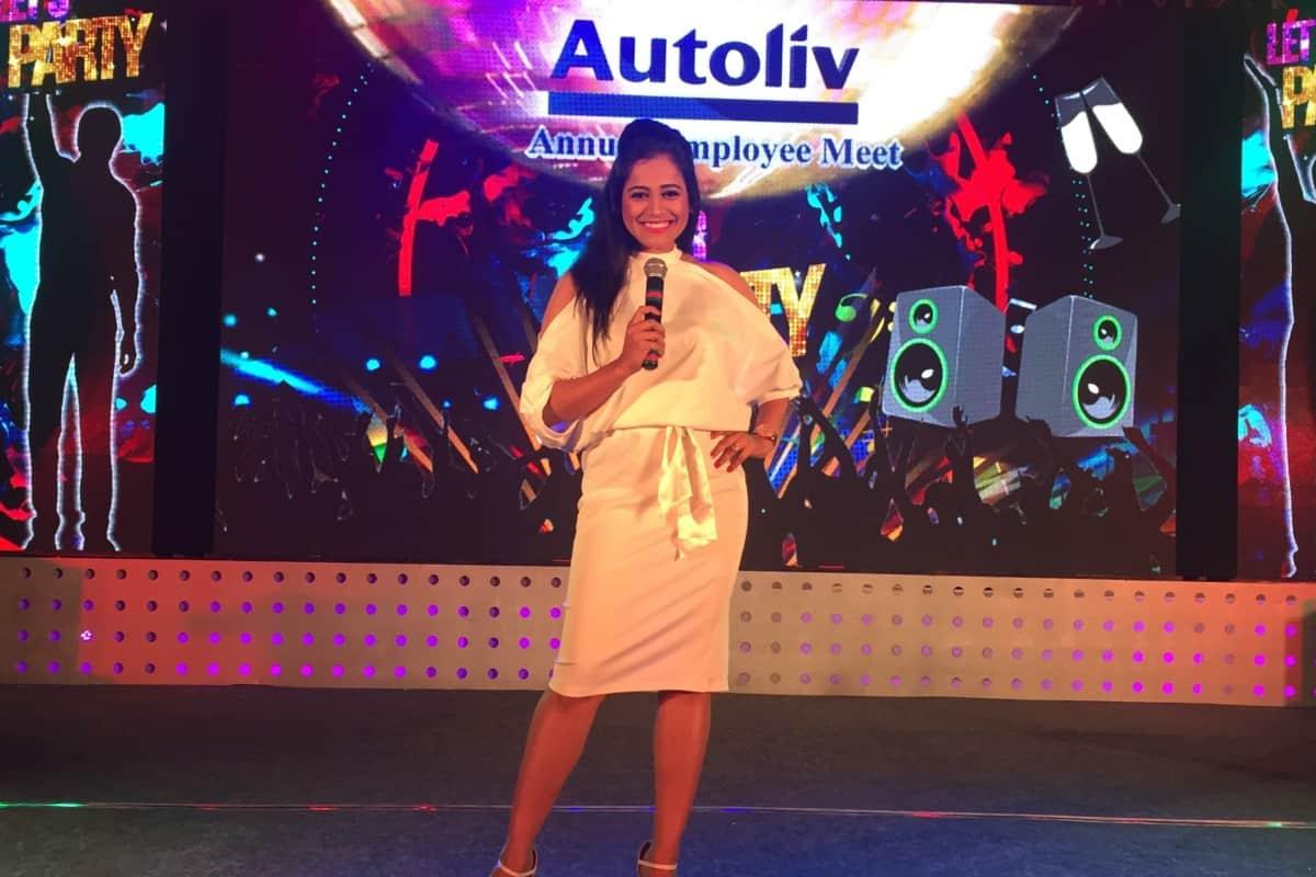 Emcee Reena hosts Annual Employee Meet 2018 for Autoliv India Pvt Ltd